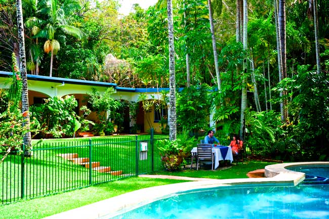 Villa Marine's rainforest pool setting